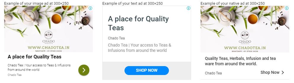 sample responsive ad