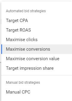search bidding strategies