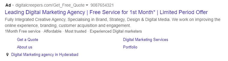 sample search ad 7 best practices of Google search ads